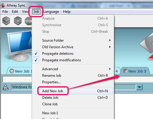 create a new job