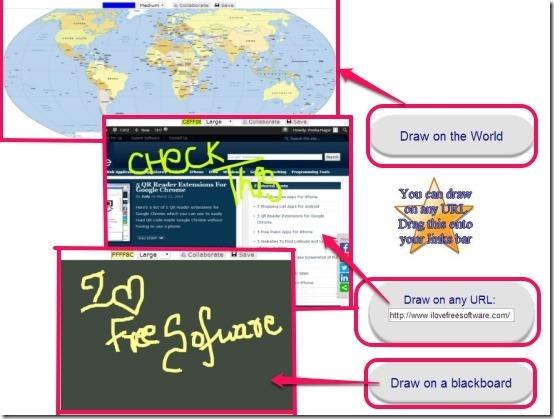 drawonthe-world, any url & blackboard