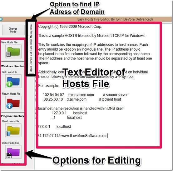 easy hosts file editor-advancecontrol