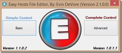 easy hosts file editor-home