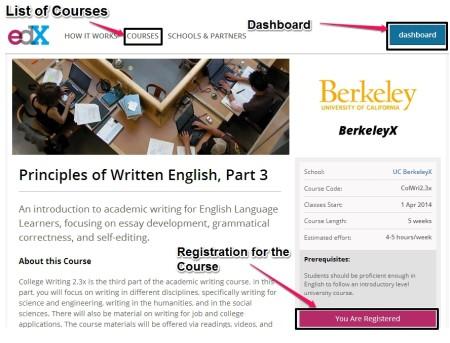 edX register for course