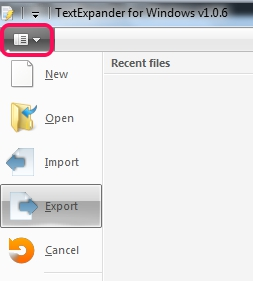 export import snippets