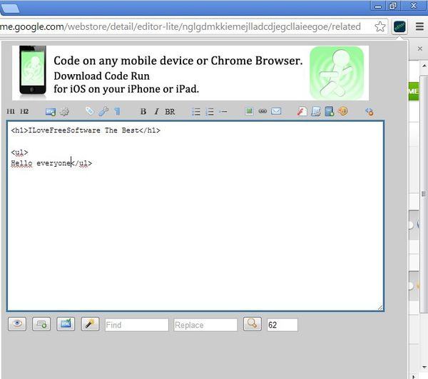 google chrome html ide extensions