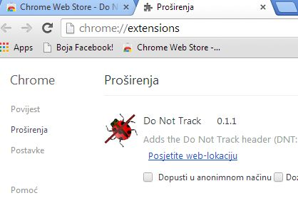 google chrome prevent tracking by websites extensions 3