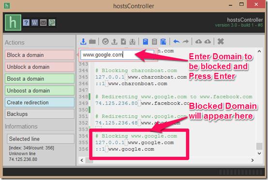 hostscontroller Blocking