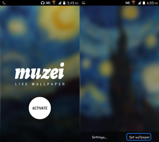 how to set Muzei Live Wallpaper
