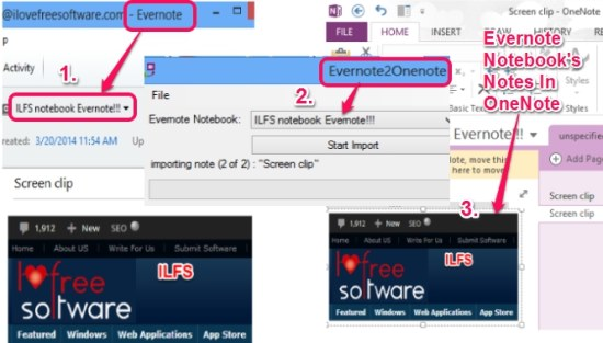 import Evernote Notebooks to OneNote