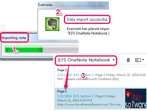 imported OneNote notebook