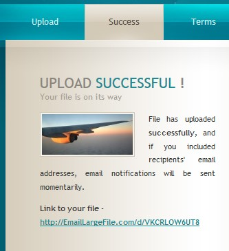 link generated for uploaded file