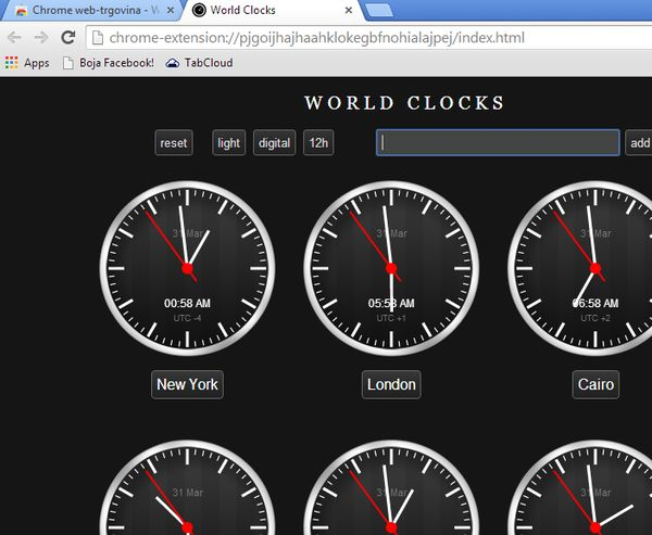 offline world clock extensions app google chrome