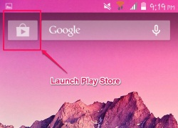 quick access to play store kitkat launcher for android