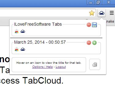 save tab chrome extensions