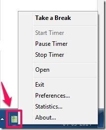 scirocco Take a Break-System tray icon