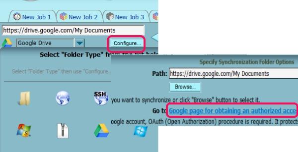 select source folder