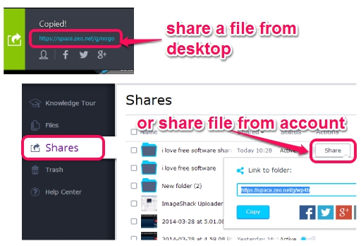 share a file