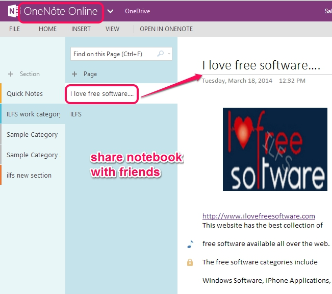 share notebook with friends