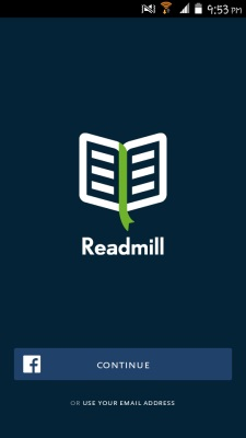 sign in readmill for android