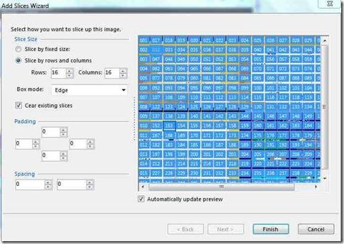 slicr 16by 16 grid