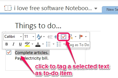 tag as to-do item