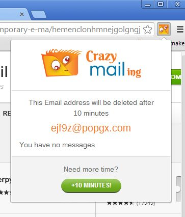 temporary email extensions google chrome 3