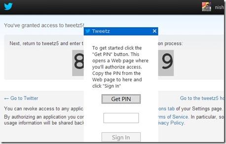 tweetz desktop pin