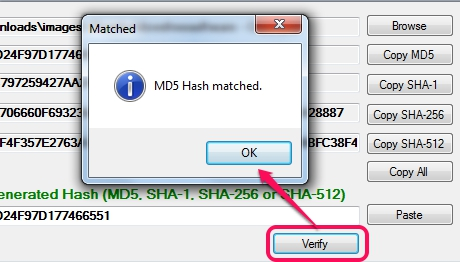 verify hashes