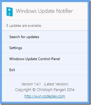 windows update notifier home