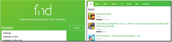 Searching Apps