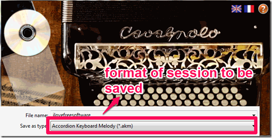 Accordian Keyboard Session Saving