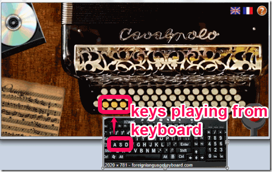 Accordian Keyboard playing