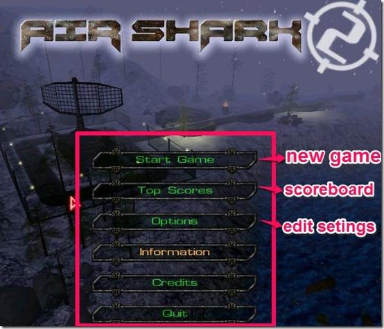 Air Shark Game select