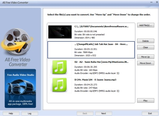 All Free Video Converter- interface