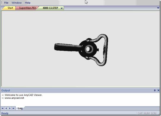 AnyCAD Viewer-Start Screen
