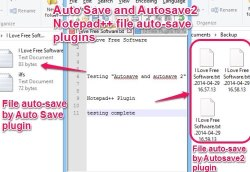 Auto Save and Autosave2 Notepad++ plugins featured image