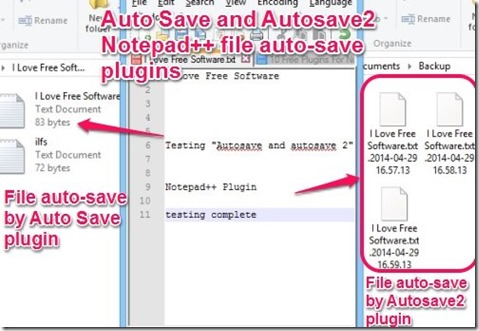 Auto Save and Autosave2 Notepad   plugins