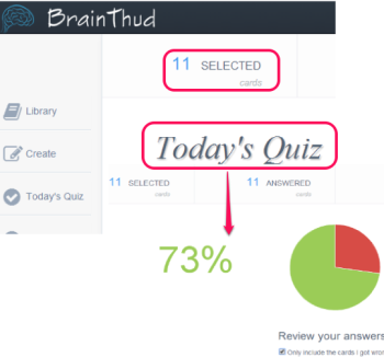BrainThud- online flashcard maker application