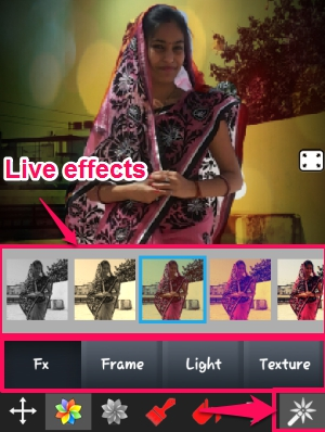 Color Splash Effect- Filters-Effects, Frames, Texture