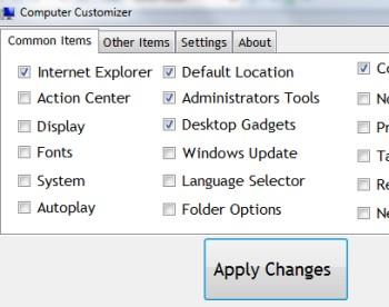Computer Customizer- interface