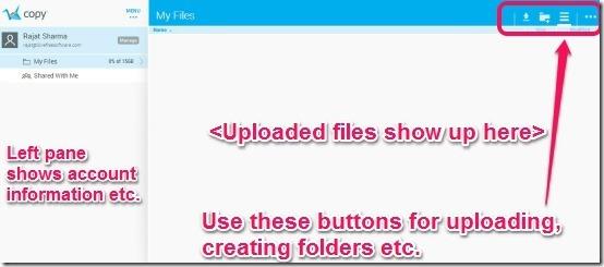 Copy main UI