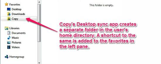 Copy sync folder