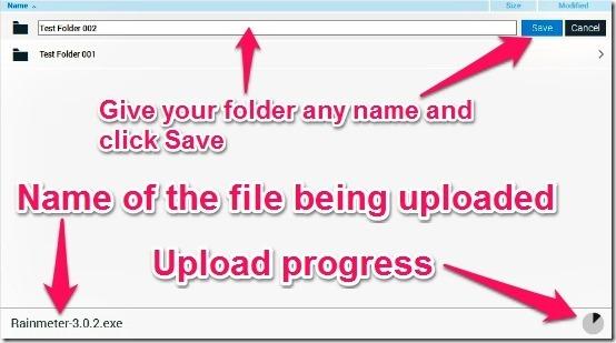 Copy upload and folder creation