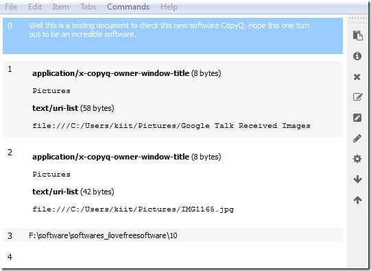 CopyQ-HomeScreen