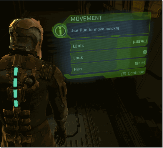 Dead space holographic dispaly