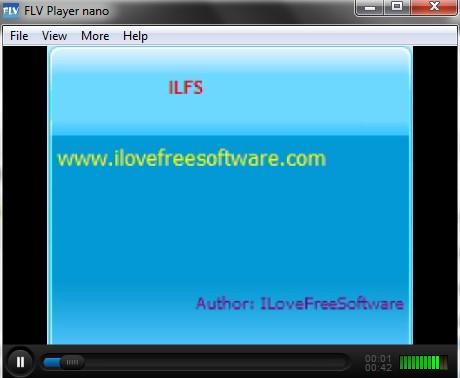 FLV Player nano- interface