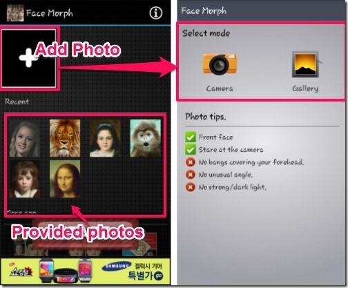 Face Morph-add photos