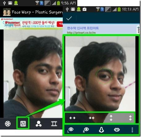 Face Warp- warp face parts