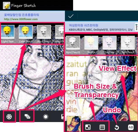 Finger Sketch- Sketching effects