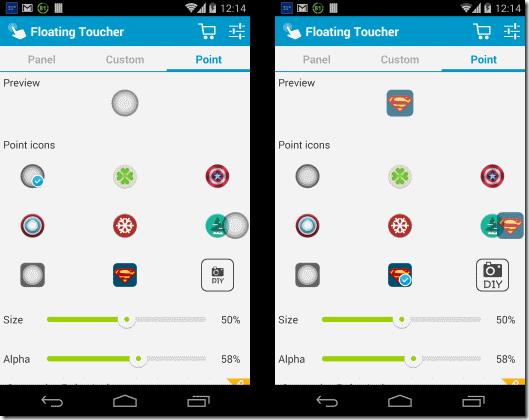 Floating Toucher Customize Point