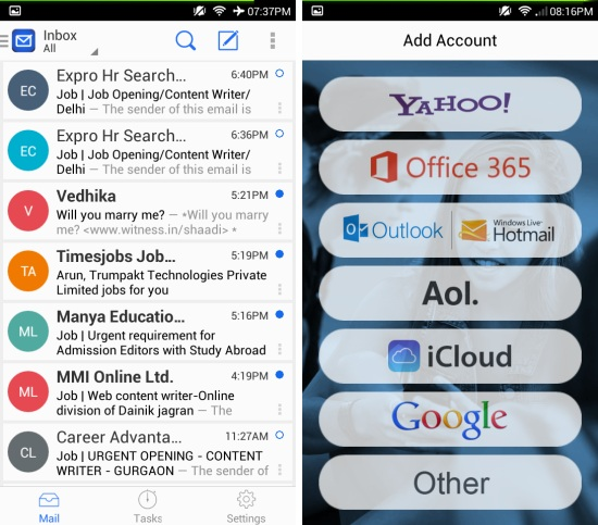 Free Email App Blue Mail For Android