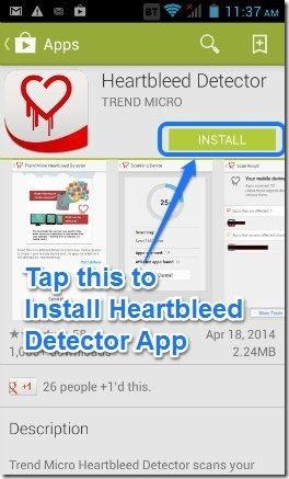 Heartbleed app install screen